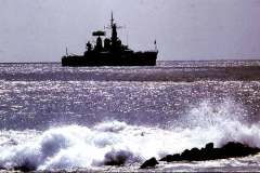 47_Minerva_anchored_off_Ascension_Island_June1970
